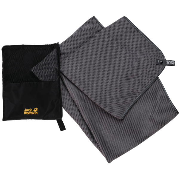 Jack Wolfskin Waffle Towel M pebble grey