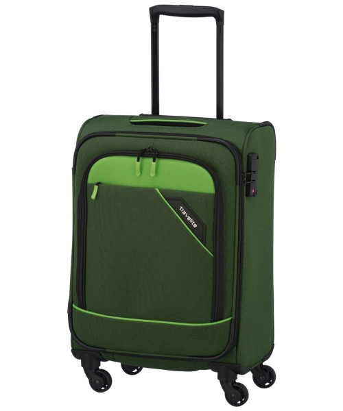 grün - Travelite Derby 4-Rad Trolley S