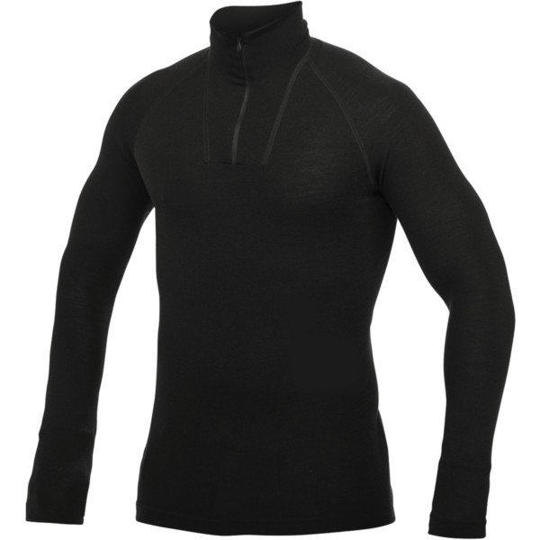 schwarz - Woolpower Rundhalshemd ( Zip Turtleneck ) Lite