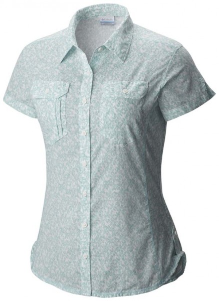 iceberg ditsy floral - Columbia Camp Henry Short Sleeve Shirt Women
