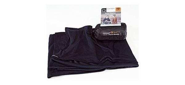 graphite blue - Cocoon Merinowolle / Seide Travel Blanket