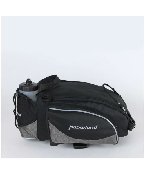 Haberland Gepäckträgeraufsatztasche Flexibag L GK9570 inkl. KLICKfix UniKlip schwarz/grau