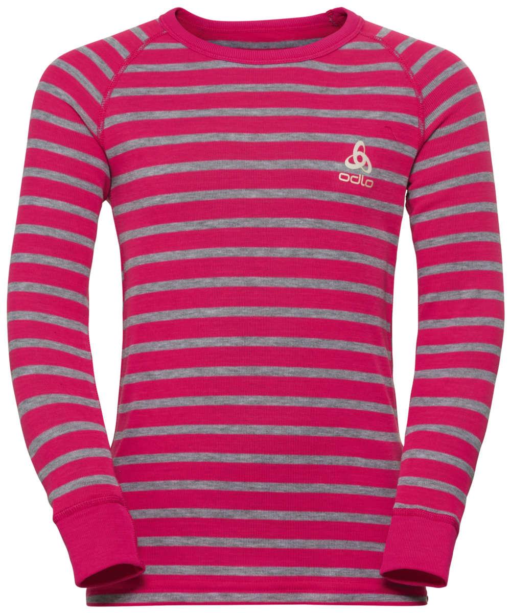 Odlo Set Active Originals Warm Kids beetroot purple - grey melange - stripes 128