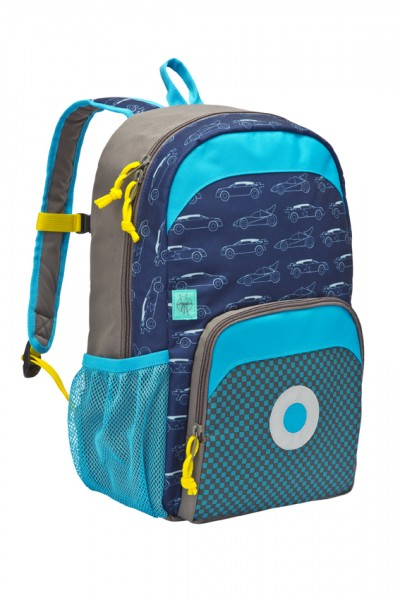 cars navy - Lässig 4Kids Big Backpack