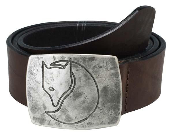 leather brown - Fjällräven Murena Silver Belt