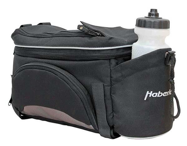 schwarz/grau - Haberland Gepäckträgeraufsatztasche Flexibag M GT9530 inkl. Klettbandbefestigung