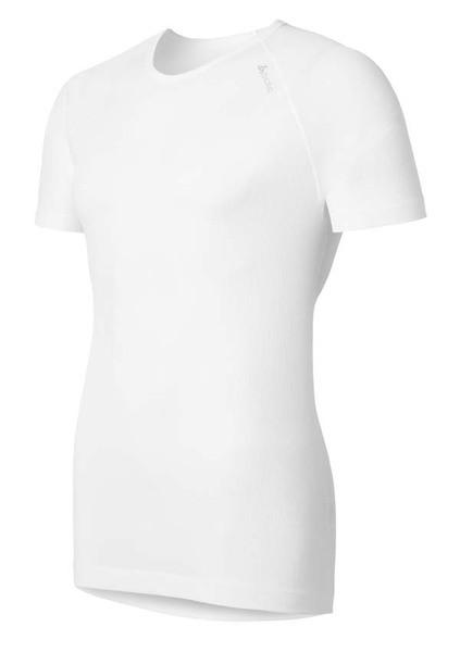 white - Odlo Men Shirt S/s Crew Neck Cubic