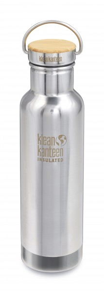 mirrored stainless - Klean Kanteen Reflect Vacuum Insulated mit Stainless Unibody Bamboo Cap 592 ml
