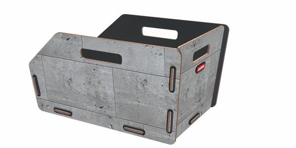 beton - KLICKfix Radkiste 1 für Gepäckträger, Racktime