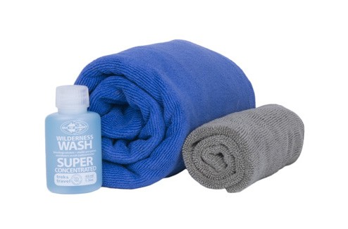 cobalt/pacific - Sea to Summit Tek Towel Wash Kit Large