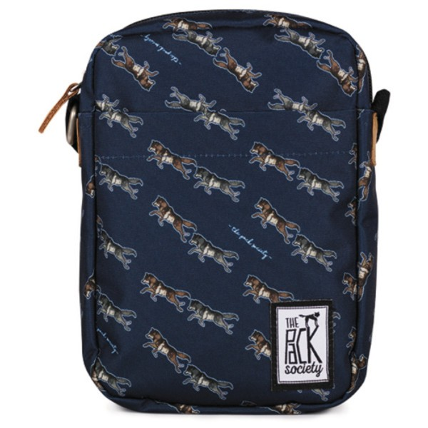 dark blue wolf allover - The Pack Society Small Shoulder Bag Cool Prints