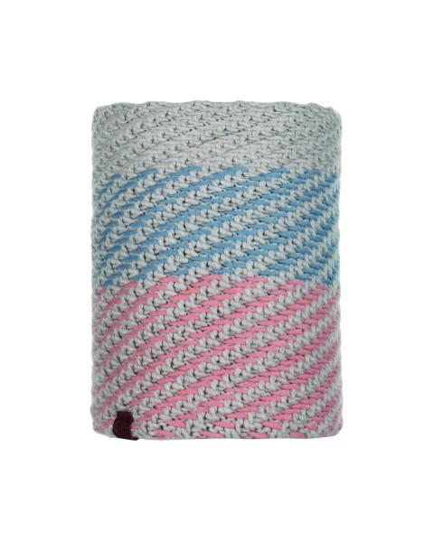 multi - Buff Knitted und Polar Fleece Neckwarmer Nella