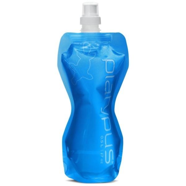 blue - Platypus SoftBottle 0,5 Liter Push-Pull Cap
