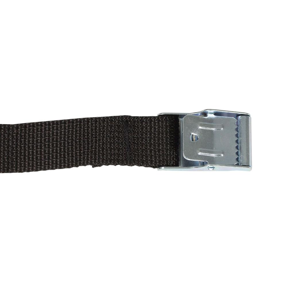 Ortlieb Spanngurte Metallschnalle (Paar) schwarz 20mm x 100cm