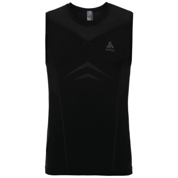 black - odlo graphite grey - Odlo Men Performance Light SUW Top Crew Neck Singlet