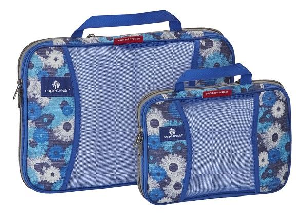 Eagle Creek Pack-It Compression Cube Set daisy chain blue
