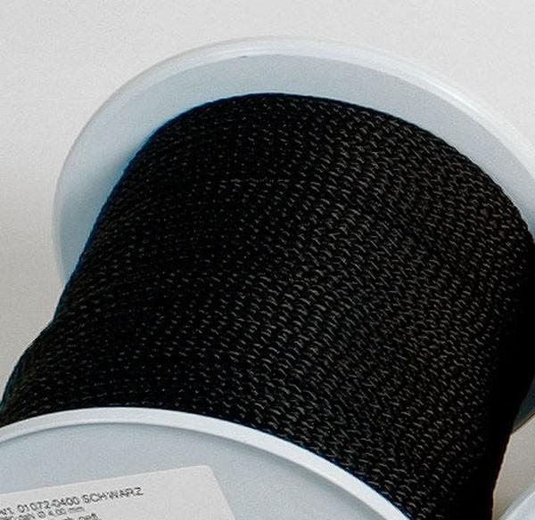 schwarz - Relags Seile auf 30 Meterrollen, 3 mm