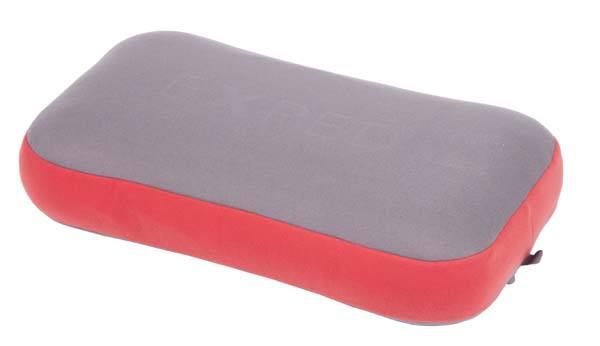 Exped Mega Pillow grey-ruby red