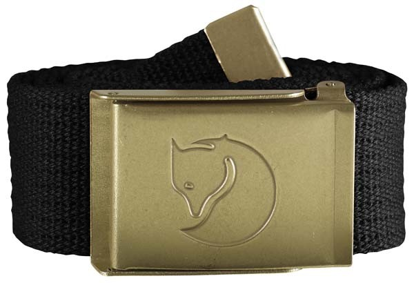 black - Fjällräven Canvas Brass Belt 4 cm
