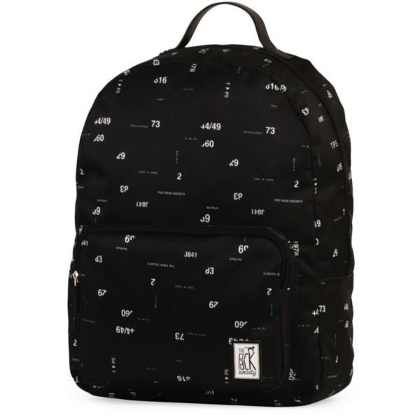 black numbers allover - The Pack Society Backpack Cool Prints