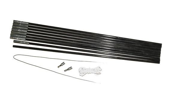 - Relags Fiberglasstange 5,5 m x 9,5 mm, 9 Segmente