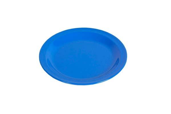 blau - Waca Melamin Teller flach, Durchmesser 23,5 cm