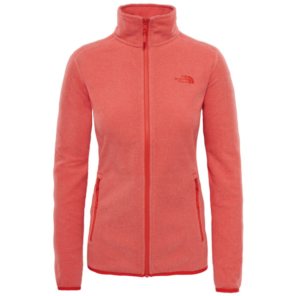 desert flower orange stripe - The North Face W 100 Glacier Full Zip