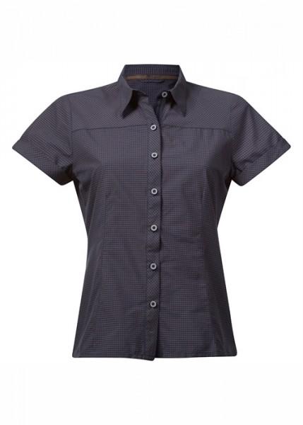 navy check - Bergans Tafjord Lady Shirt SS