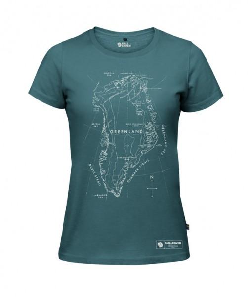 frost green - Fjällräven Greenland Printed T-Shirt W