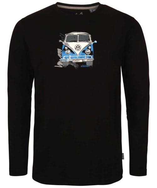 black - Elkline langedabei Herren VW Langarmshirt