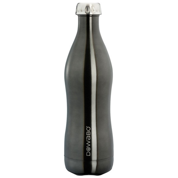black - Dowabo Thermosflasche Metal Collection 750 ml