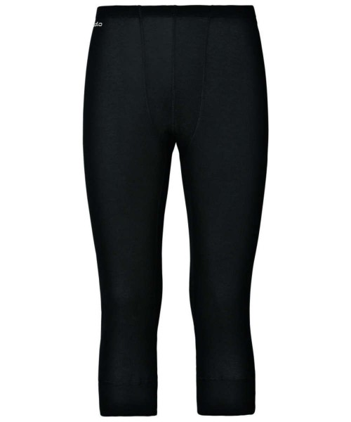 black - Odlo Men Pants 3/4 Warm