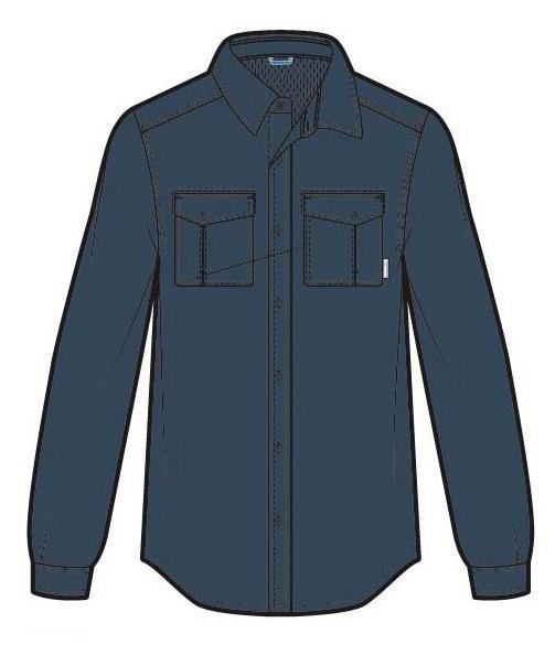 Columbia Twisted Divide Long Sleeve Shirt Men zinc M