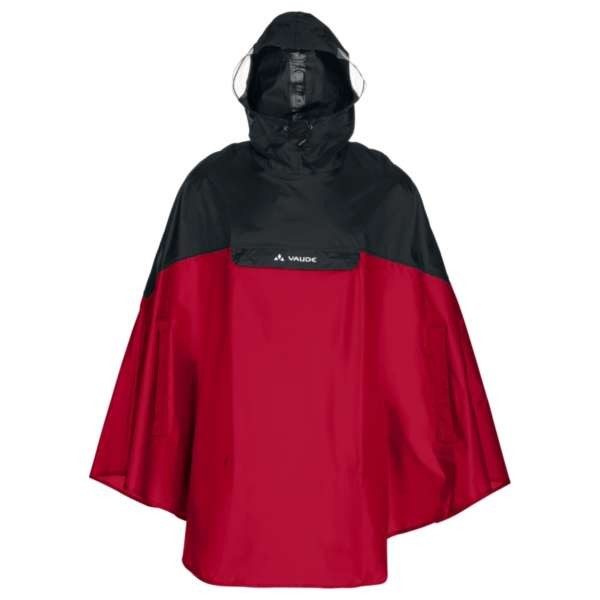 indian red - Vaude Covero Poncho II Regen-Poncho