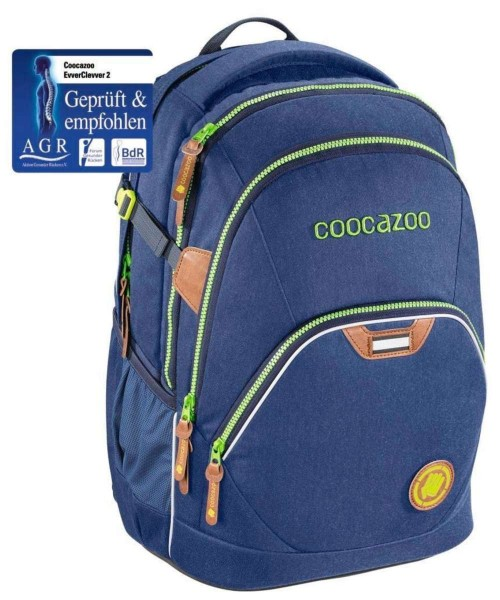 denim blue - Coocazoo EvverClevver 2 Rucksack Limited Edition Jeans Dreams
