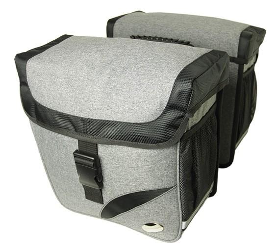 Grey Deluxe - Haberland Doppeltasche Trend L DS3432 Gepäcktr.-System-Adapter passend f. Carrymore u. iRack