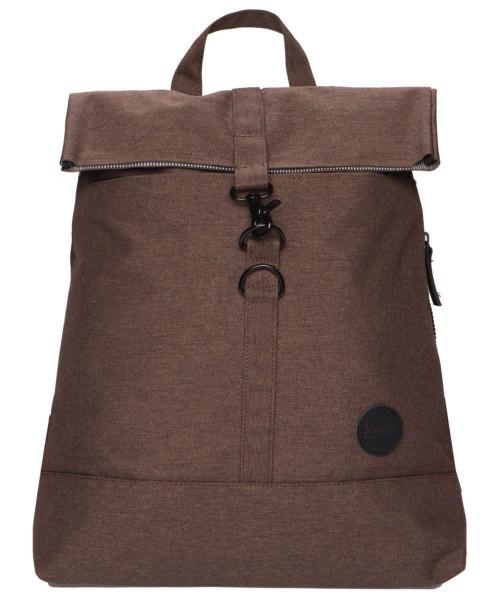 melange dark brown - Enter City Fold Top Backpack