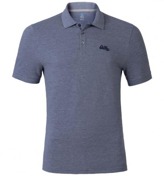 peacoat melange - Odlo Men Polo Shirt S/S Trim