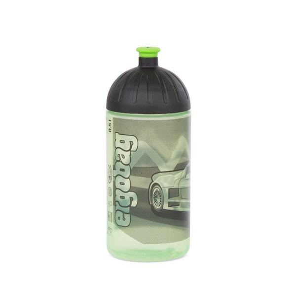 Drunter und DrüBär (schwarz grün Zickzack) - ergobag Trinkflasche 0,5 L