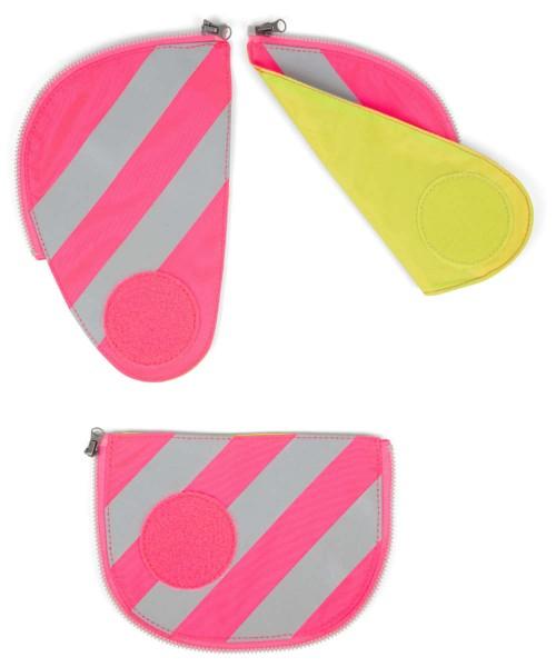 pink - ergobag Pack Sicherheitsset mit Reflektorstreifen (3-tlg.)