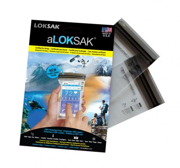 Loksak aLOKSAK wasserdichter Beutel 3.7x7, 2 Stück (9.53 x 17.78 cm) smartphone
