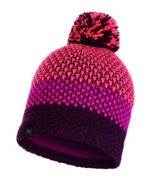 bright pink - Buff Knitted und Polar Fleece Hat Tilda