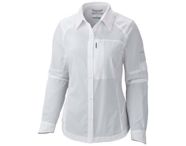white - Columbia Silver Ridge Long Sleeve Shirt Women
