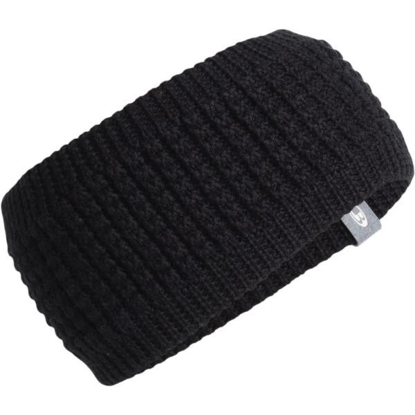 Icebreaker Affinity Headband black/gritstone heather