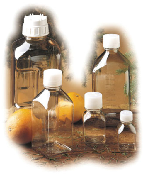 Nalgene Polycarbonat-Flasche, Quader 125 ml, Hals Ø 28 mm