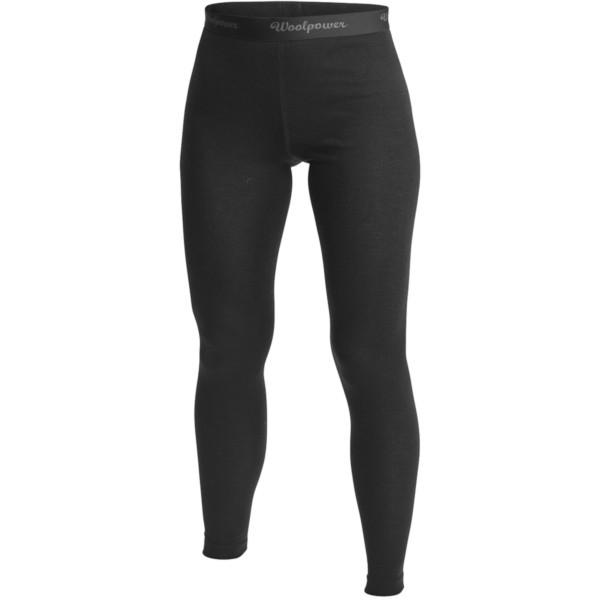schwarz - Woolpower Lange Unterhose Long Johns Lite Women