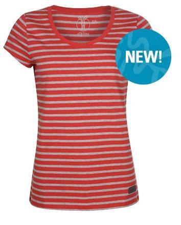 redmelange-greymelange - Elkline marina Damen T-Shirt