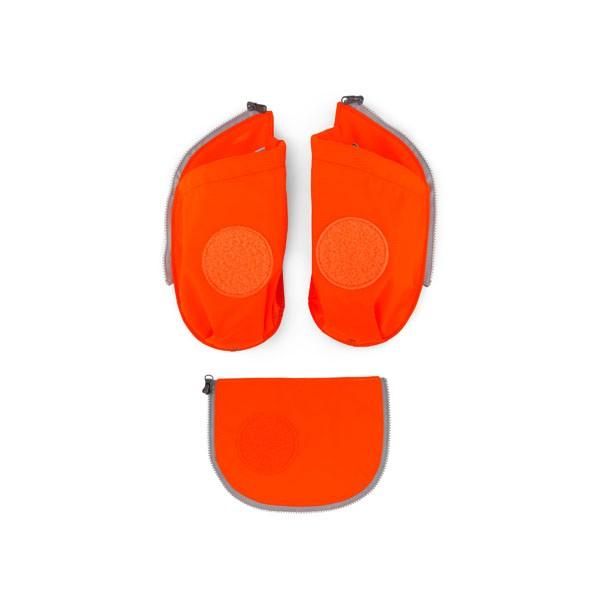 orange - ergobag Cubo Seitentaschen Zip-Set (3-teilig) mit Flaschenhalter