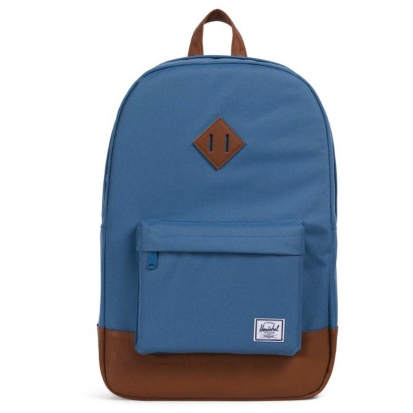 aegean blue/tan synthetic leather - Herschel Heritage Backpack