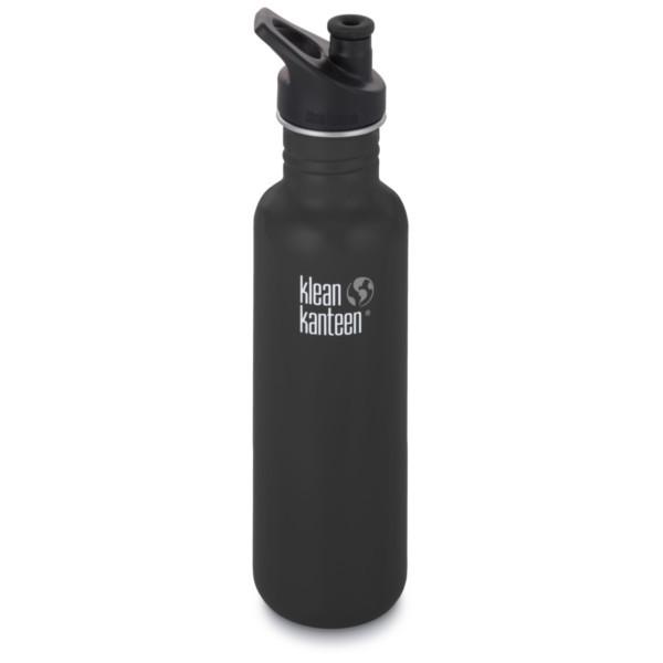 shale black matt - Klean Kanteen Classic mit Sport Cap 3.0 800 ml